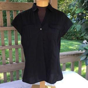 🎈🎈George black short sleeve blouse XL